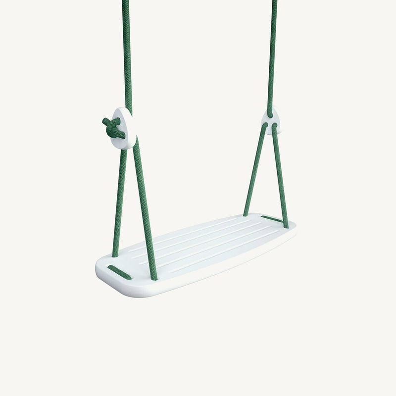 LILLAGUNGA Classic Swing - White Birch with Green Ropes - All Mamas Children
