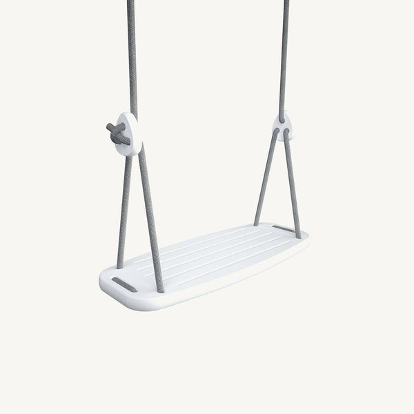 LILLAGUNGA Classic Swing - White Birch with Grey Ropes, Swing, Lillagunga - All Mamas Children