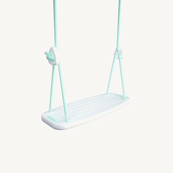 LILLAGUNGA Classic Swing - White Birch with Mint Ropes - All Mamas Children