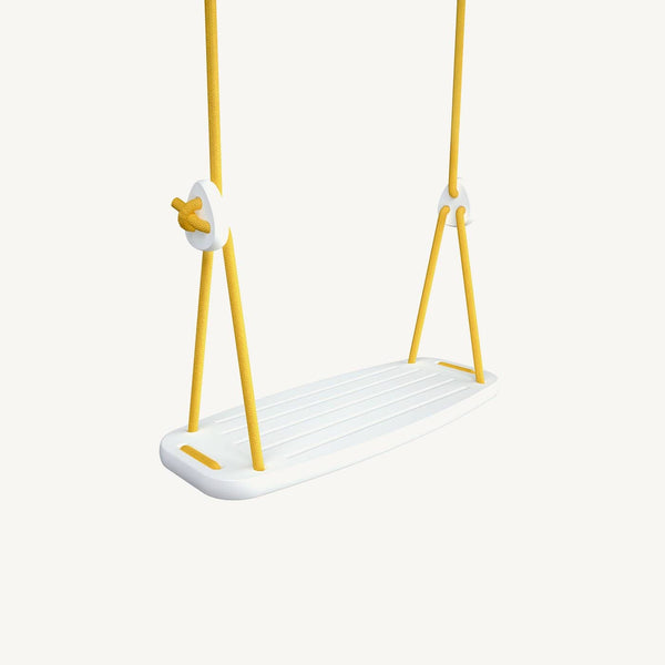 LILLAGUNGA Classic Swing - White Birch with Yellow Ropes, Swing, Lillagunga - All Mamas Children