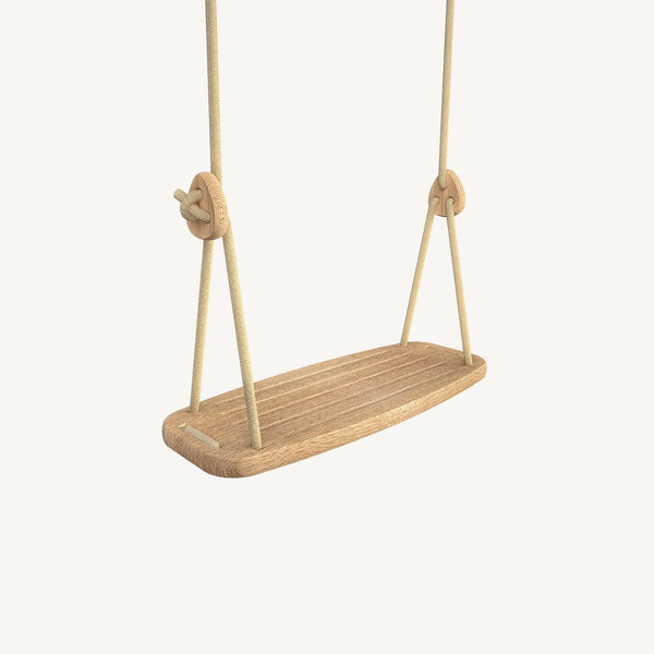 LILLAGUNGA Classic Swing - Oak with Beige Ropes, Swing, Lillagunga - All Mamas Children