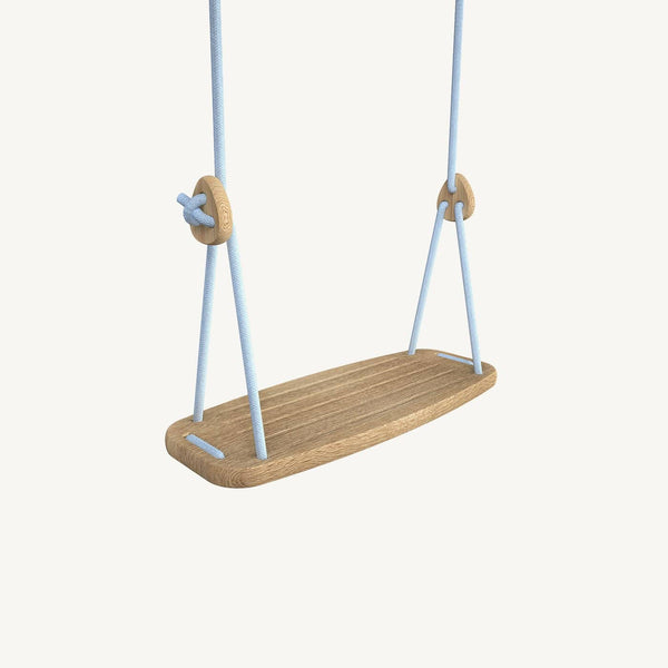 LILLAGUNGA Classic Swing - Oak with Blue Ropes, Swing, Lillagunga - All Mamas Children