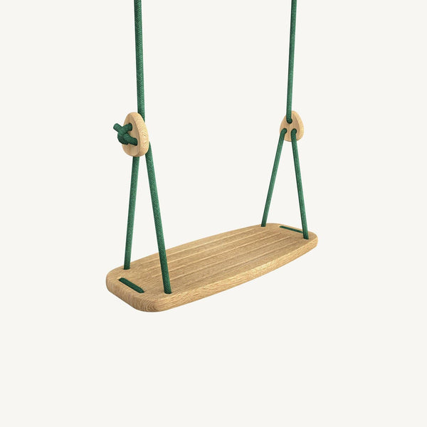 LILLAGUNGA Classic Swing - Oak with Green Ropes - All Mamas Children
