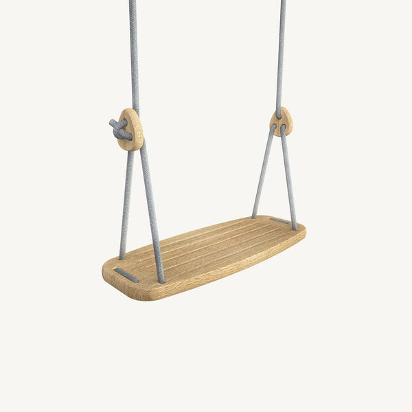 LILLAGUNGA Classic Swing - Oak with Grey Ropes, Swing, Lillagunga - All Mamas Children