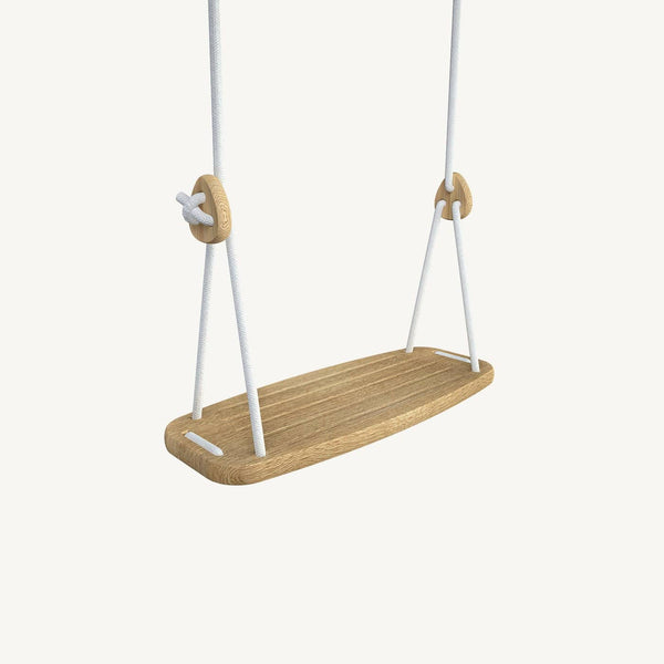 LILLAGUNGA Classic Swing - Oak with White Ropes - All Mamas Children