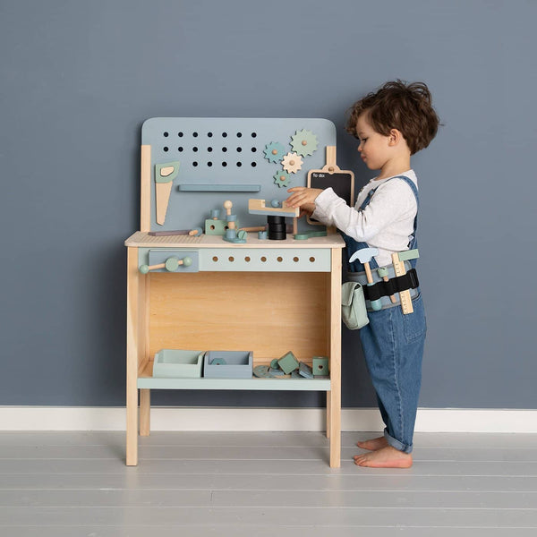 Little Dutch - Children's Workbench with Tool Belt, Pretend Play, Little Dutch - All Mamas Children