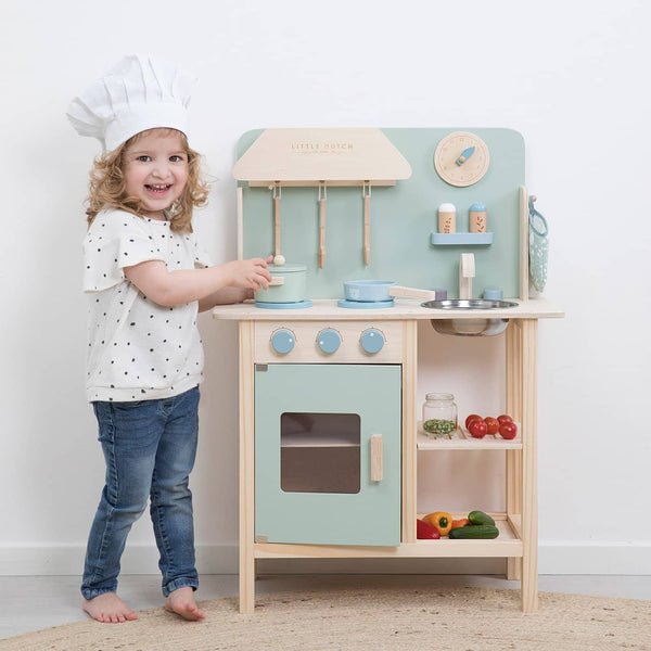 Little Dutch - Wooden Kitchen in Mint, Pretend Play, Little Dutch - All Mamas Children