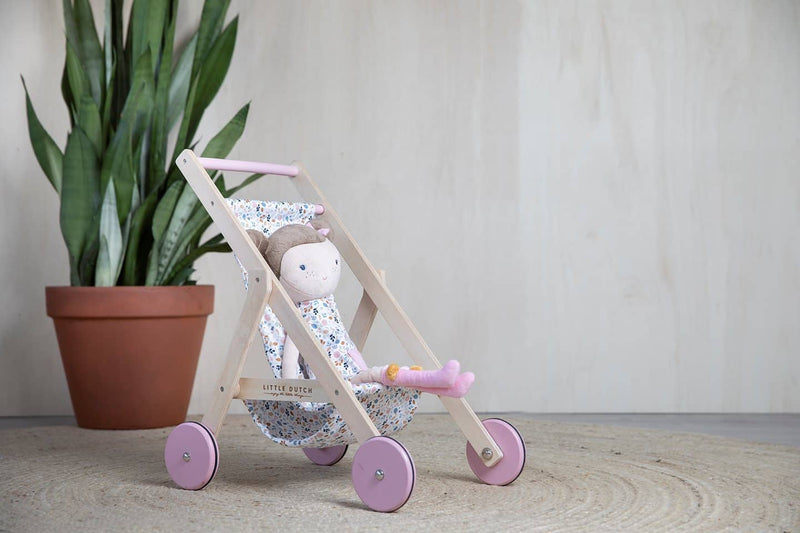Little Dutch - Doll Stroller Spring Flowers, Dolls Stroller, Little Dutch - All Mamas Children