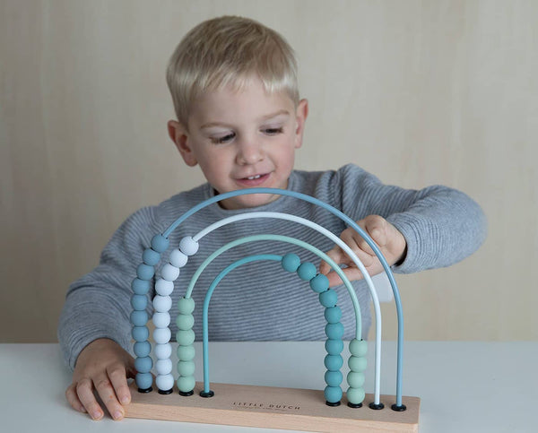Little Dutch - Rainbow Abacus in Blue, Abacus, Little Dutch - All Mamas Children