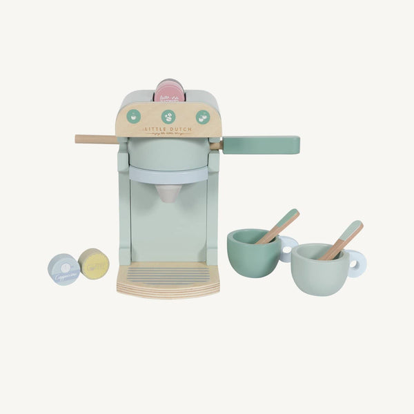 Little Dutch - Wooden Coffee Machine in Mint, Pretend Play, Little Dutch - All Mamas Children