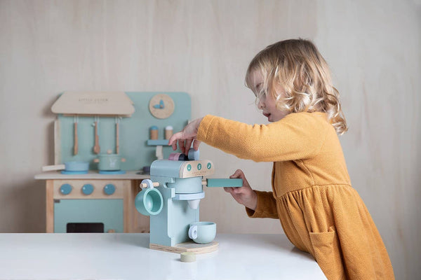 Little Dutch - Wooden Coffee Machine in Mint - All Mamas Children