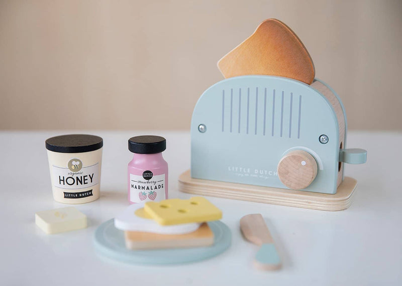 Little Dutch - Wooden Toaster Set in Mint, Pretend Play, Little Dutch - All Mamas Children