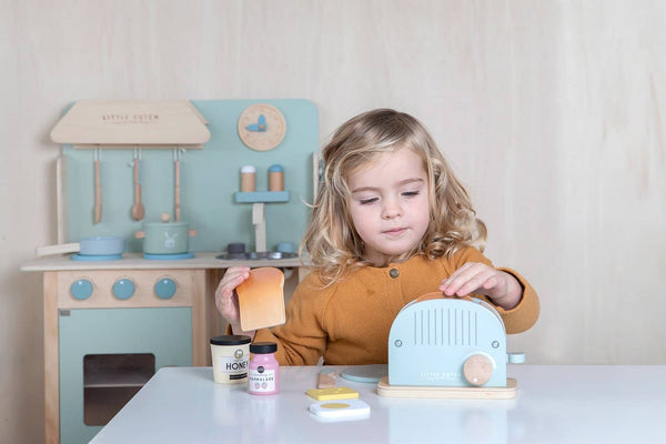 Little Dutch - Wooden Toaster Set in Mint - All Mamas Children