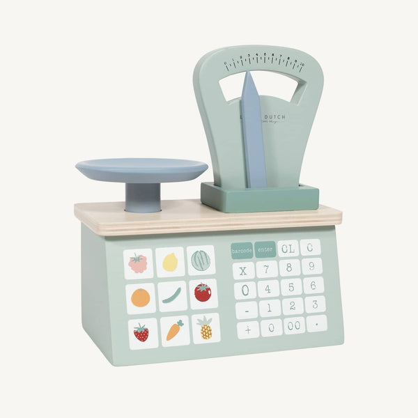 Little Dutch - Wooden Weighing Scales in Mint, Pretend Play, Little Dutch - All Mamas Children