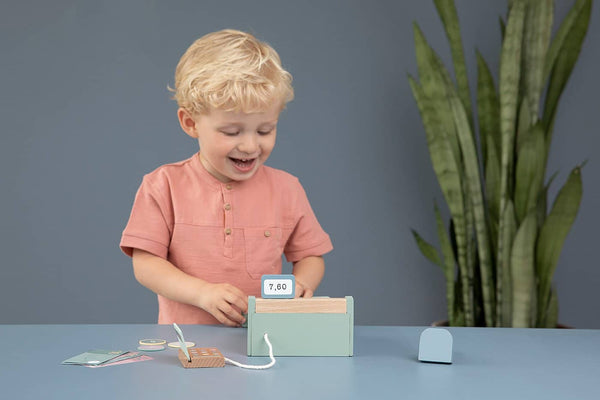 Little Dutch - Wooden Cash Register with Scanner, Pretend Play, Little Dutch - All Mamas Children