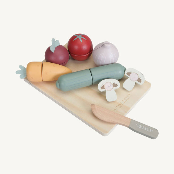 Little Dutch - Wooden Cutting Vegetables Play Set, Pretend Play, Little Dutch - All Mamas Children