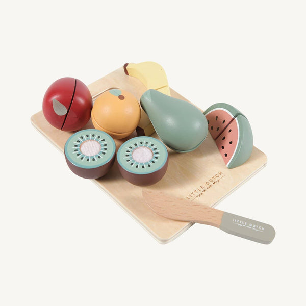 Little Dutch - Wooden Cutting Fruit Play Set - All Mamas Children
