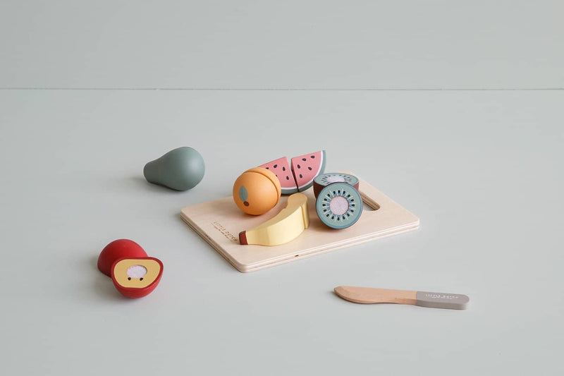 Little Dutch - Wooden Cutting Fruit Play Set, Pretend Play, Little Dutch - All Mamas Children
