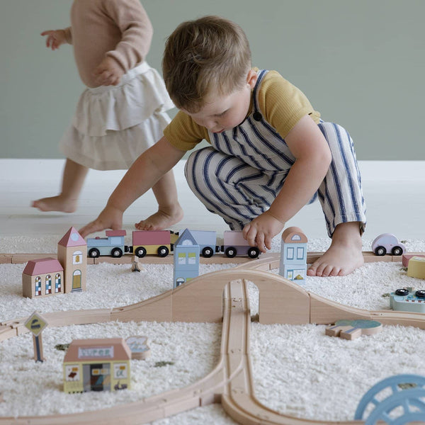Little Dutch - Railway Train XXL Set, Pretend Play, Little Dutch - All Mamas Children