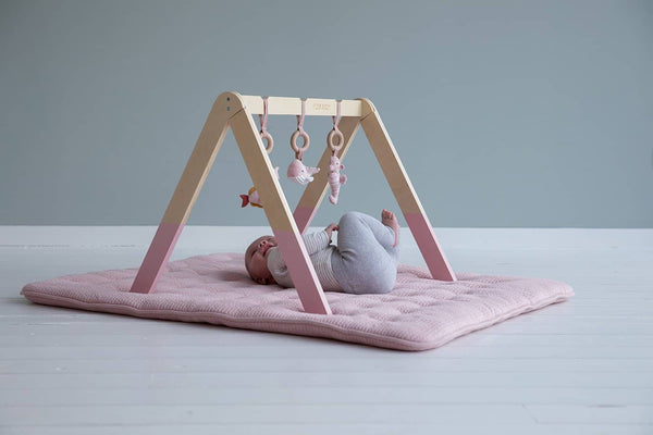Little Dutch - Wooden Baby Gym in Ocean Pink - All Mamas Children