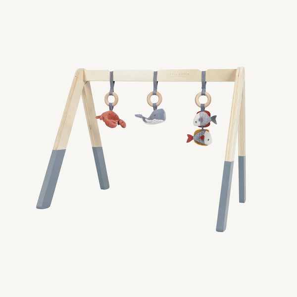 Little Dutch - Wooden Baby Gym in Ocean Blue - All Mamas Children