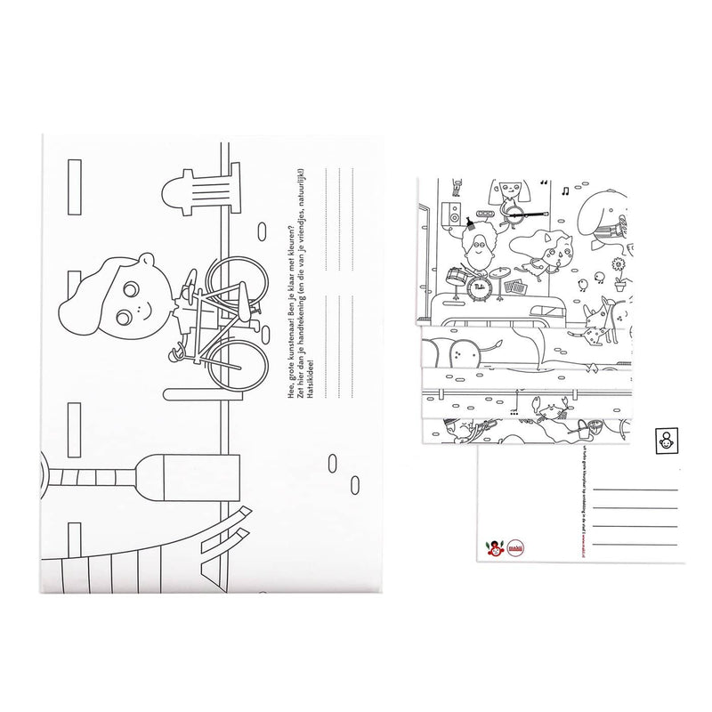 Makii Giant Colouring Picture - CITY 91.4 x 150 cm, Colouring Book, Makii - All Mamas Children