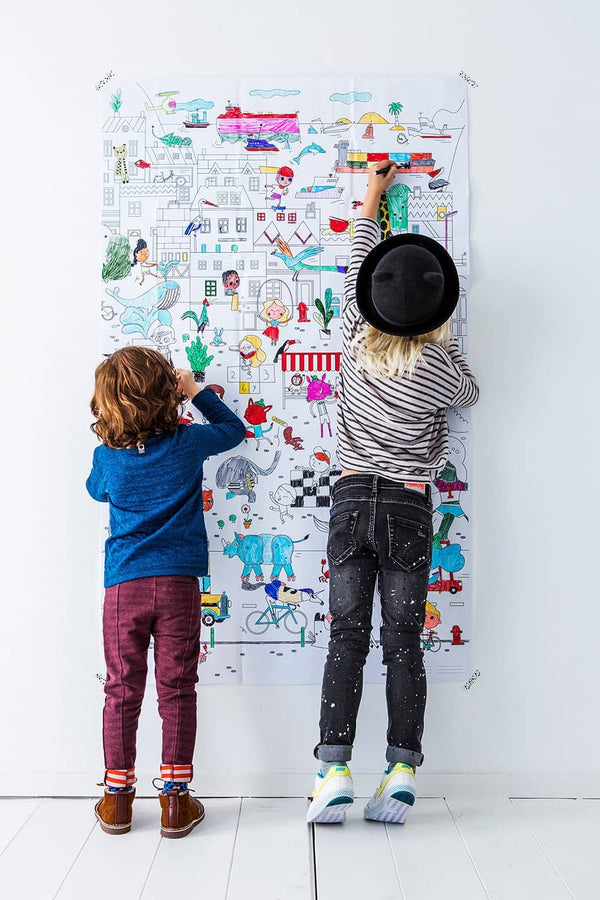 Makii Giant Colouring Picture - CITY 91.4 x 150 cm - All Mamas Children