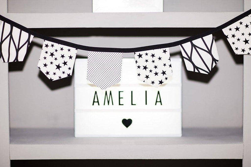 Monochrome Print Bunting - Black On White, Bunting, All Mama's Children - All Mamas Children