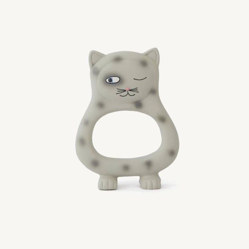 OYOY - Benny Cat Baby Teether - Grey - All Mamas Children