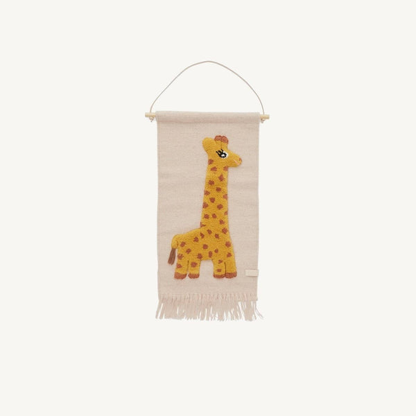 OYOY - Giraffe Wallhanger, Wall Rug, OYOY - All Mamas Children