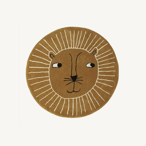 OYOY - Lion Rug in Caramel, Rug, OYOY - All Mamas Children