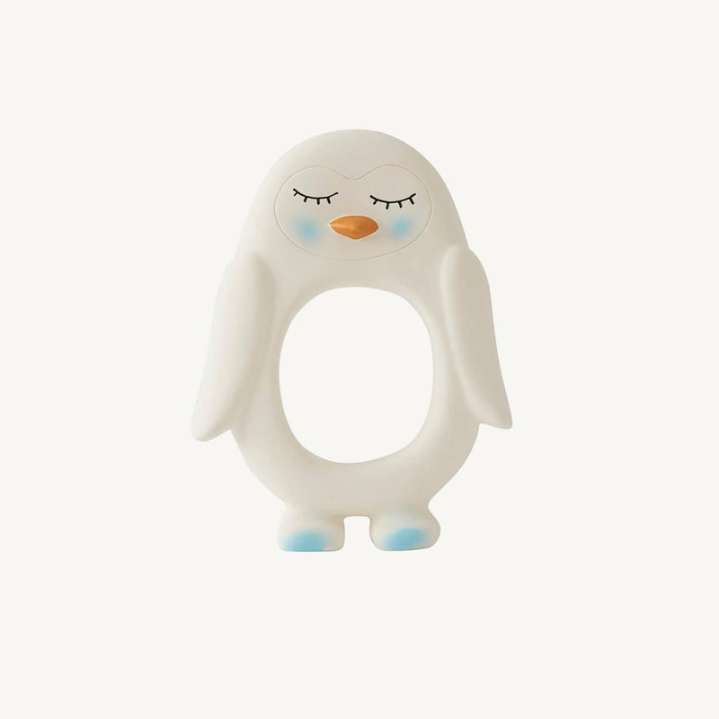 OYOY - Penguin Baby Teether - White - All Mamas Children