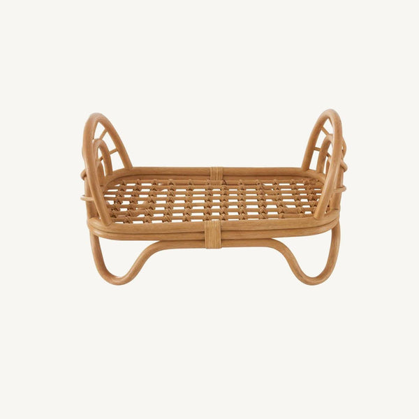OYOY - Rainbow Rattan Dolls Bed, Dolls Bed, OYOY - All Mamas Children