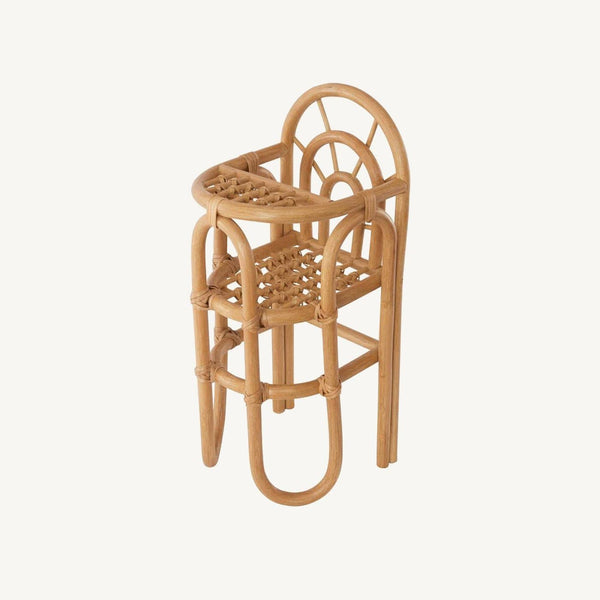 OYOY - Rainbow Rattan Dolls High Chair, Dolls Chair, OYOY - All Mamas Children