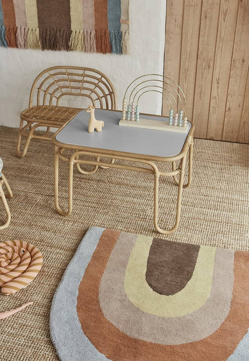 OYOY - Rainbow Rattan Mini Table, Furniture, OYOY - All Mamas Children