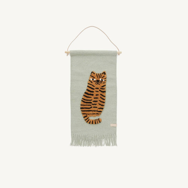 OYOY - Tiger Wallhanger, Wall Rug, OYOY - All Mamas Children