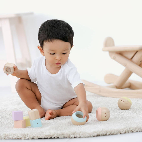 Plan Toys - Sensory Tumbling in Pastels - All Mamas Children