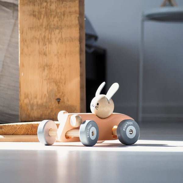 Plan Toys - Bunny Racing Car, Car, Plan Toys - All Mamas Children