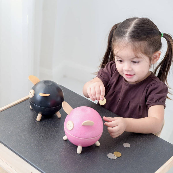 Plan Toys - Piggy Bank In White, Toys, Plan Toys - All Mamas Children