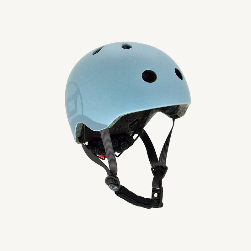 Scoot and Ride Helmet with LED Light S/M - Steel, Helmet, Scoot and Ride - All Mamas Children
