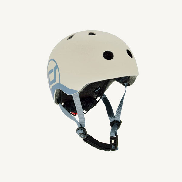 Scoot and Ride Helmet with LED Light XS/S (1-3 years) - Ash, Helmet, Scoot and Ride - All Mamas Children
