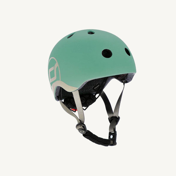 Scoot and Ride Helmet with LED Light XS/S (1-3 years) - Forest, Helmet, Scoot and Ride - All Mamas Children