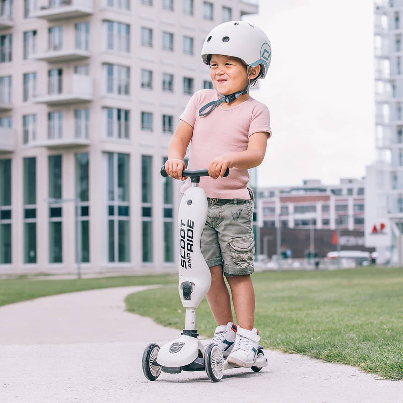 Scoot and Ride Helmet with LED Light XS/S - Ash - All Mamas Children