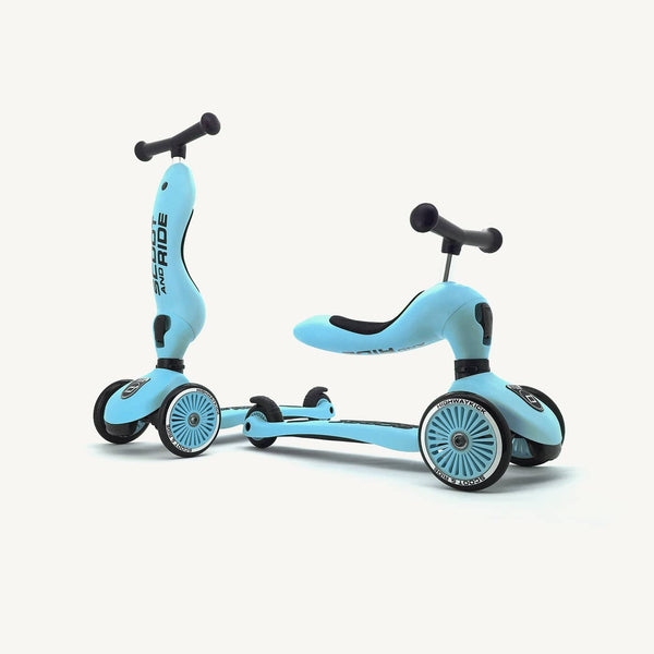 Scoot and Ride 2 in 1 Balance Bike / Scooter - Highwaykick 1 in Blueberry, Scooter, Scoot and Ride - All Mamas Children