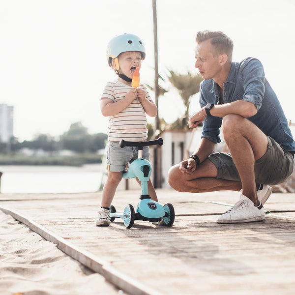 Scoot and Ride Helmet with LED Light XS/S (1-3 years) - Blueberry, Helmet, Scoot and Ride - All Mamas Children