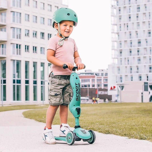 Scoot and Ride Helmet with LED Light XS/S - Forest - All Mamas Children
