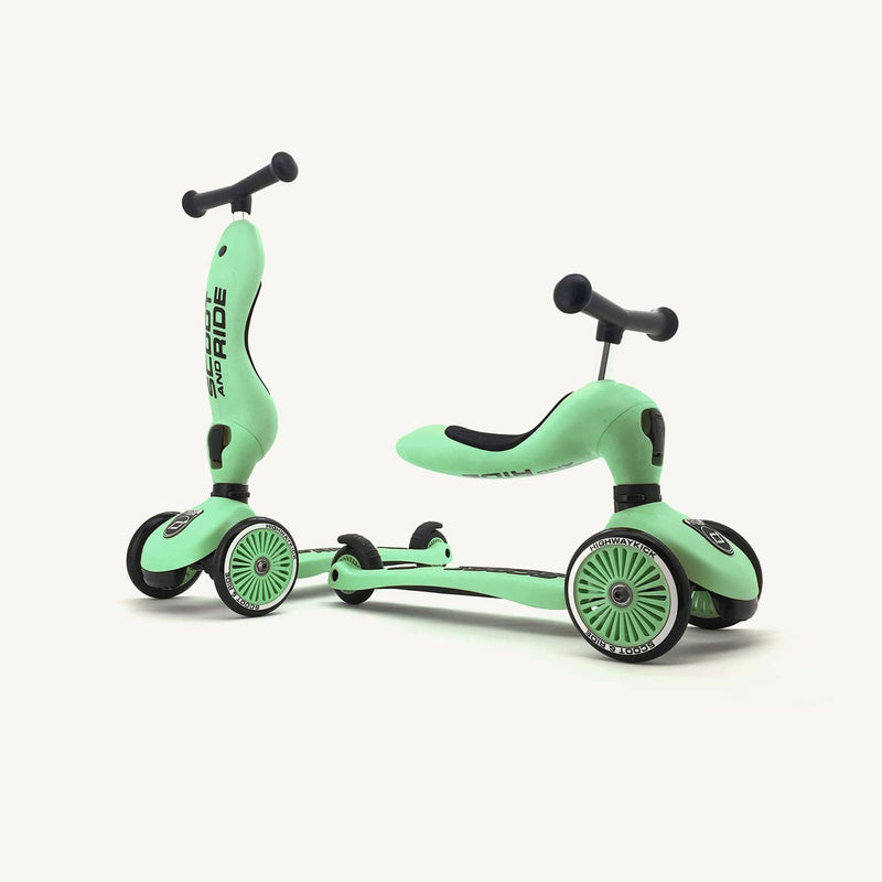 Scoot and Ride 2 in 1 Balance Bike / Scooter - Highwaykick 1 in Kiwi, Scooter, Scoot and Ride - All Mamas Children