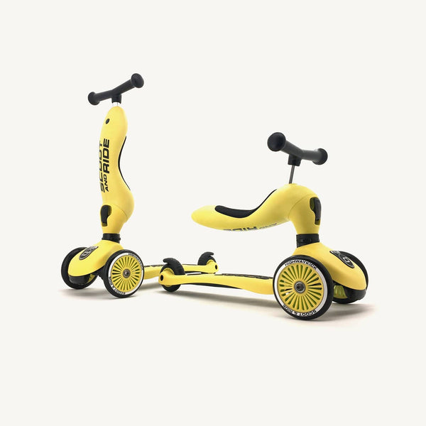 Scoot and Ride 2 in 1 Balance Bike / Scooter - Highwaykick 1 in Lemon, Scooter, Scoot and Ride - All Mamas Children