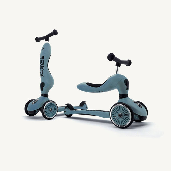 Scoot and Ride 2 in 1 Balance Bike / Scooter - Highwaykick 1 in Steel, Scooter, Scoot and Ride - All Mamas Children