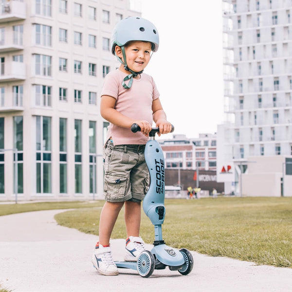 Scoot and Ride Helmet with LED Light XS/S (1-3 years) - Steel, Helmet, Scoot and Ride - All Mamas Children